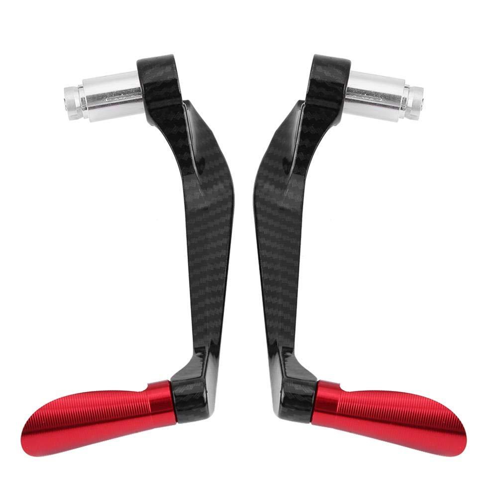 1 paire de leviers dembrayage de frein de moto en fibre de carbone prot/ège le guidon Titane