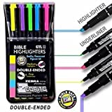 Bible Highlighter Set of 5 Fluorescent Double Ended Markers Fine/Medium by Zebra Zebrite