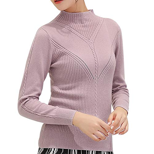 Femme Pull Col Mince Cachemire Dissa Roulé F5387 Mode Rose Manches Longues Z0wO8nkNPX