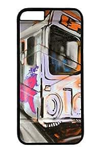 Unique iphone 6 case (4.7 inch) - Graffiti-The Train Slim Hard PC Black Cases Cover