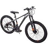 Huffy 24 Boys Hardtail 21-Speed with Disc Brakes Mountain Bike
