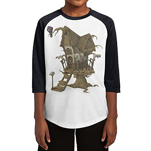 Aishan Halloween House Teenage Casual Sports 3/4 Sleeves Raglan T Shirts XL