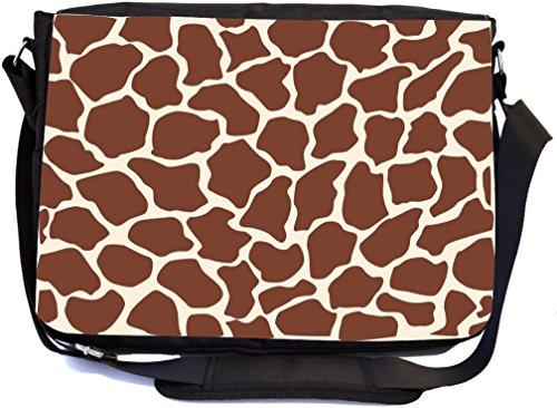 Rikki Knight Giraffe Print Design Multifunction Messenger Bag - School Bag - Laptop Bag - with padded insert for School or Work - includes Pencil Case