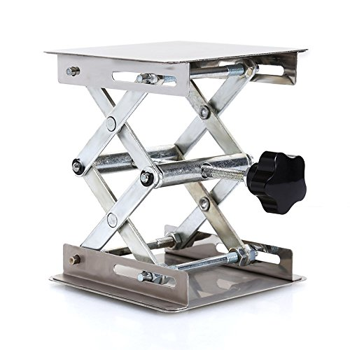 Ochoos 4'' x 4'' 100mm Stainless Steel Lab Stand Lifting Platform Laboratory Tool Laboratory Lifting Platform by Ochoos (Image #2)