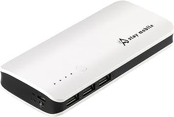 stay mobile Power Banco 22400 mAh Alta Capacidad con 3 Salidas ...