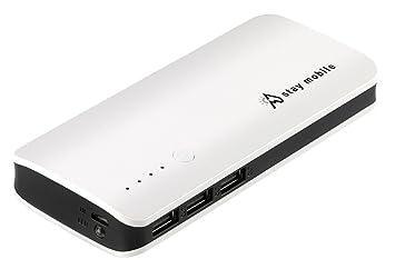 stay mobile Power Banco 22400 mAh Alta Capacidad con 3 Salidas USB Batería Externa y Cargador del teléfono móvil para iPhone, iPad, Samsung, ...