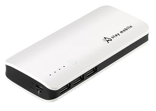 17 opinioni per stay mobile Power Bank (22400 mAh) (latest Technology) 3 USB Output Portable