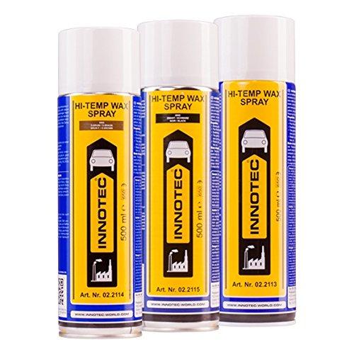 Innotec Hi-Temp Wax Spray Unterboden und  Hohlraumschutz Fettspray Transparent 500ml 1360