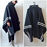Poncho Resisent Activewear Poncho With Border Stripes inspired by Y3