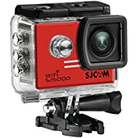 WiFi TFT 14MP 1080P 60FPS Full HD CMOS Action Sport Camera - Red + Black