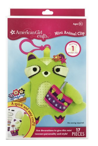 Price comparison product image American Girl Crafts Mini Animal Clip, Raccoon