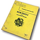 Onan N52M-Ga019.9 Series Industrial Engines Parts Catalog List Exploded Parts