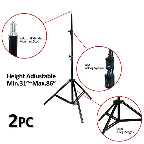VILTROX 2-Pack VL-200 3300K-5600K CRI95 Super Slim LED Video Light Panel Photography Lighting Kit with Light Stand, Hot Shoe Adapter, Remote Controller, AC Adapter for YouTube Studio Video Shooting ... by VILTROX (Image #5)