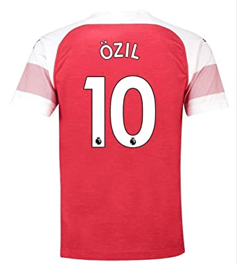 7a1c9189 Arsenal 18/19 Ozil #10 Jerseys Men's Home Jersey Football T-Shirt Red
