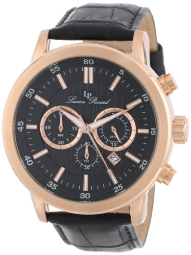 Lucien Piccard Men's 12011-RG-01 Monte Viso Chronograph Rose Gold-Tone Stainless Steel Watch