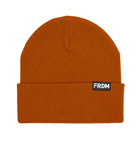 (FRDM Classic Knit Cuff Beanie for Men & Women (Orange) )