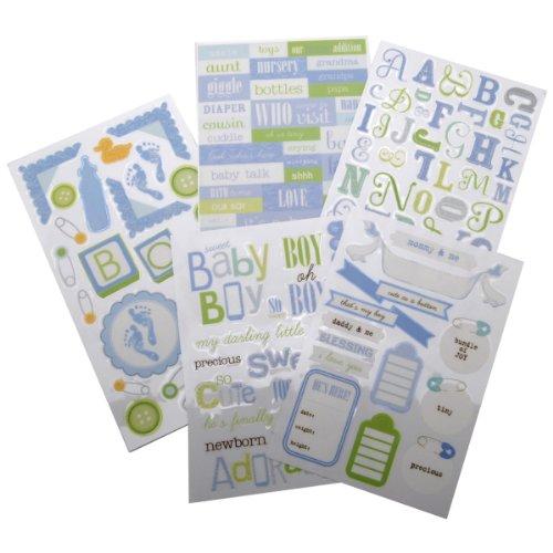 - me & my BIG ideas Glitter Sticker Flip Value Pack, Sweet Baby Boy