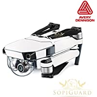 SopiGuard Avery Dennison Matte Pearl White Precision Edge-to-Edge Coverage Vinyl Skin Controller Battery Wrap for DJI Mavic Pro
