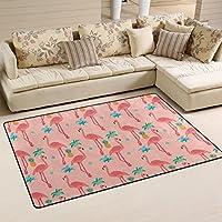 LORVIES Flamingo Pattern Area Rug Carpet Non-Slip Floor Mat Doormats for Living Room Bedroom 31 x 20 inches