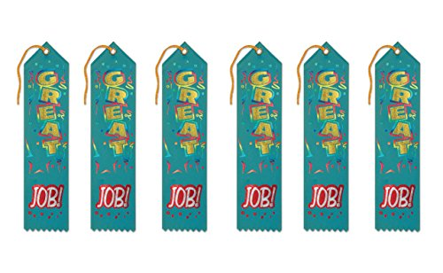 Great Ribbon (Beistle AR185 Great Job! Award Ribbons, 2 by 8-Inch, 6-Pack)