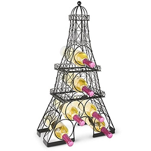 Tower Wine Rack - Epic 11-046 Tall Metal Wire Eiffel Tower Design Wine Rack for Multiple Bottles