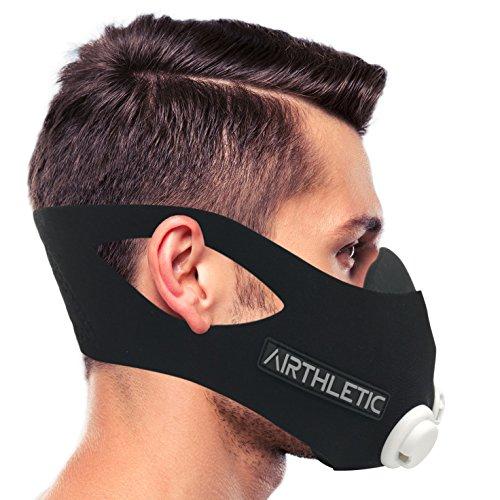 AIRTHLETIC Training Mask - Máscara de entrenamiento profesional para entrenamiento en altitud: Amazon.es: Deportes y aire libre