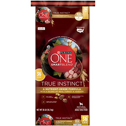 Purina ONE SmartBlend True Instinct with a Blend of Real Turkey & Venison NATURAL Adult Dry Dog Food - (1) 36 lb. (Purina One Rice)