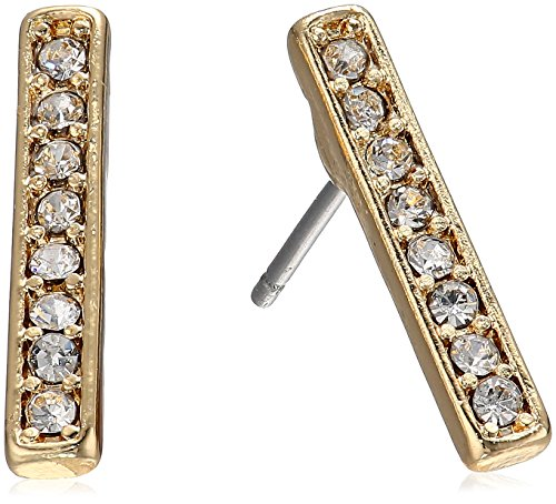 Laundry By Shelli Segal Pave Bar Stud Earrings, Crystal/Gold -