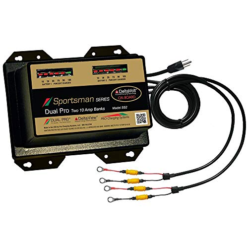Dual Pro Sportsman Series Battery Charger - 20a - 2-10a-Banks - 12v/24v -
