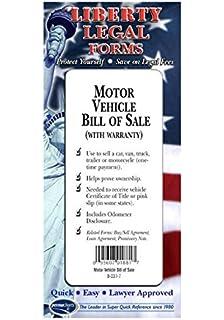 amazon com custom used vehicle automotive bill of sale 2 part