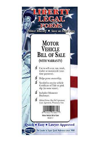 amazon com motor vehicle bill of sale usa do it yourself legal