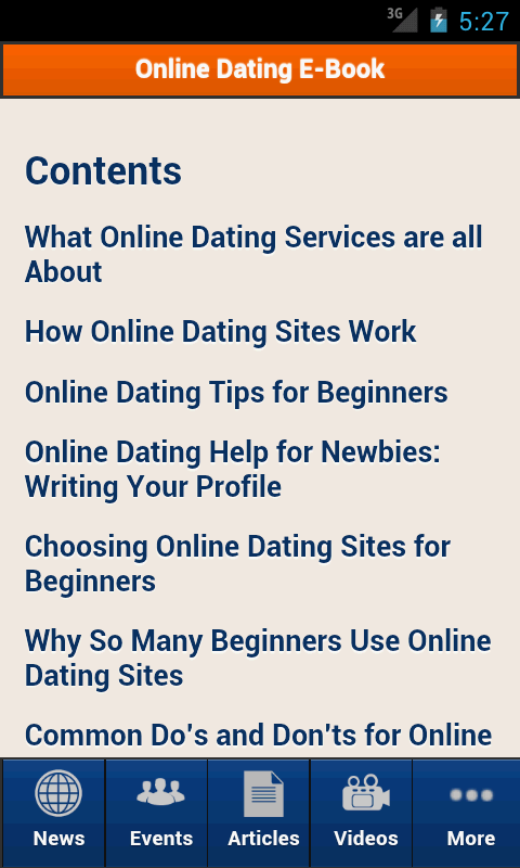 Dating sites contents
