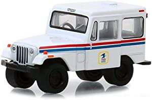 Greenlight 29997 United States Postal Service (USPS) 1971 Jeep Dj-5 Postal Mail Delivery Vehicle Hobby Exclusive 1/64 Diecast Model Car, White