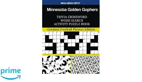 Minnesota Golden Gophers Trivia Crossword Word Search