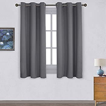 Amazon.com: NICETOWN Black Blackout Curtains Panels - Solid Thermal ...