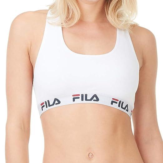 Fila Sujetador de Algodón para Mujer (S, Blanco): Amazon.es: Ropa ...