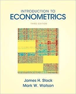 Stock & watson, introduction to econometrics, update, 3rd edition.