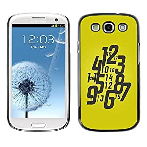 GagaDesign Phone Accessories: Hard Case Cover for Samsung Galaxy S4 - Typography Funky Yellow Watch