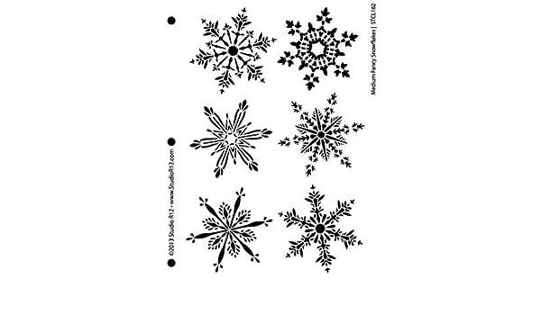 Amazon Com Snowflakes Stencil By Studior12 Fancy Winter
