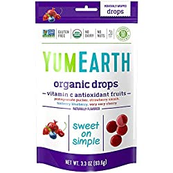 YumEarth Organic Vitamin C Antioxidant Fruit Drops, 3.3 Ounce Pouches (Pack of 6)