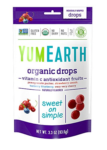 YumEarth Organic Vitamin C Antioxidant Fruit Drops, 3.3 Ounce Pouches (Pack of 6) Organic Drop