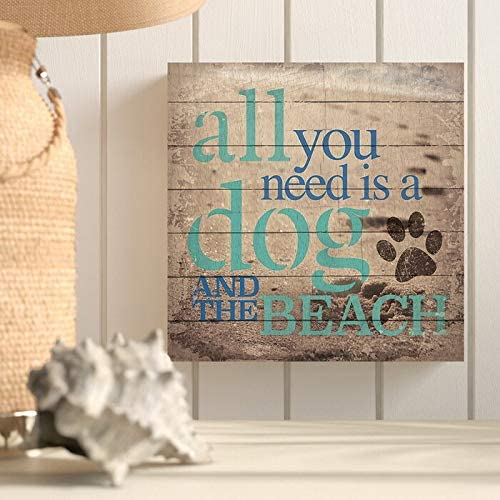 Amazon Com Wood Pallet Design Wall Art Sign Plaque All You Need Is A Dog And The Beach Textual Art On Woodall You Need Is A Dog And The Beach Textual Art On