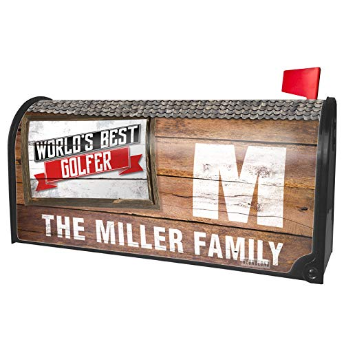 NEONBLOND Custom Mailbox Cover Worlds Best Golfer