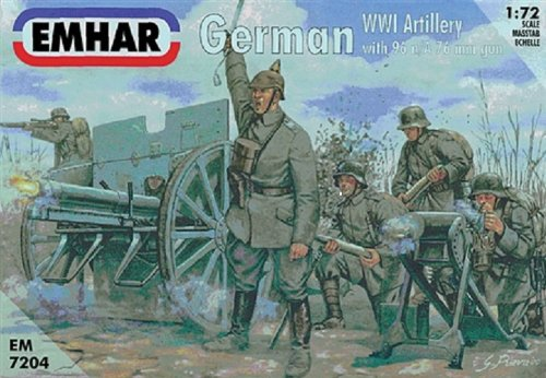 'Emhar EM7204 Figure – 1/72 WWI German Artille Rieund 77 mm 96 N/A Gun