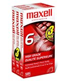 Maxell High Grade T-120 VHS Tape, 3 Pack