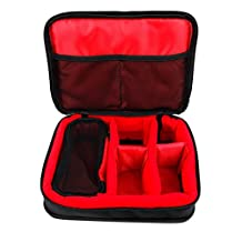 Protective EVA Headphone Case (in Red) for SteelSeries Siberia Headphones - 100, 150, 200, P100 & Siberia Raw Prism - by DURAGADGET