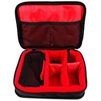 Protective EVA Case (in Red) for the Olympus Digital Voice Recorders: LS 14 PCM, LS-100, LS-12, LS-3, LS-P 1, LS-P 2, N 2289921 DM 650, V404161BE VN 765 - by DURAGADGET