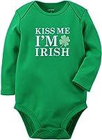 Carter's Unisex Baby Long-sleeve Kiss Me I'm Irish Bodysuit