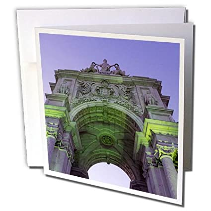 3dRose Danita Delimont   Lisbon   Portugal, Lisbon, Arco Da Rua Augusta  Stone Archway