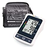 Blood Pressure Monitor, Upper Arm Cuff, Clinical Accuracy, 2 User Mode, 120 Memories, FDA Approved, 8.6 to 14.2 Inches